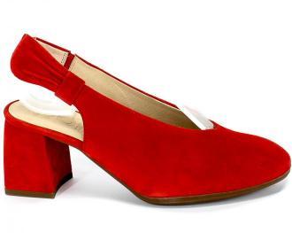 Sandały Wonders I-7721 Ante V Rojo Czerwony Skóra