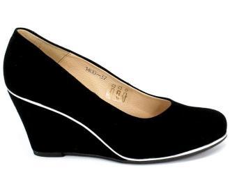 Czółenka Euro Moda Lib 1400 135 Czarny Skóra