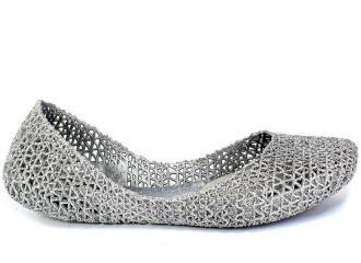 Baleriny Letnie Melissa 31512 50711 Silver/Glitter Srebrny