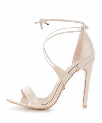 Beżowe sandały na szpilce CAPRI