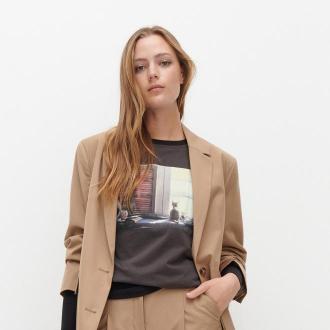 Reserved - Koszulka z bawełny organicznej - Szary