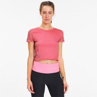PUMA Damska Koszulka Treningowa Studio Mesh Graphic, Szary, rozmiar XS, Odzież