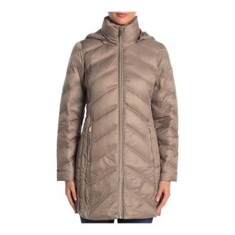 Michael Kors Jacket Puffer Down Packable Zipped Kurtki Szary Dorośli