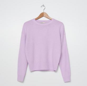 House - Sweter o ryżowym splocie - Różowy