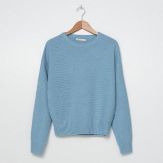 House - Sweter o ryżowym splocie - Niebieski