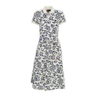 Polo Ralph Lauren Flowers Printing Polo Dress Sukienki Beżowy Dorośli