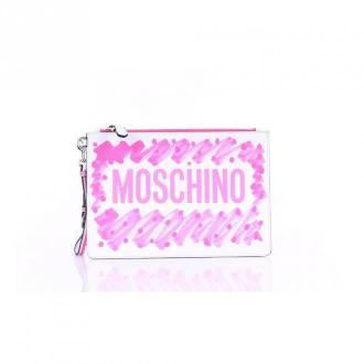 Moschino 84348001 Clutch Torby Biały Dorośli Kobiety Rozmiar: Onesize