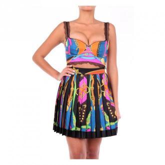 Versace A78760A233263 Sleeveless Dress Sukienki Czarny Dorośli Kobiety
