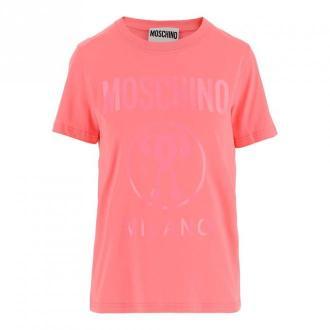 Moschino T-shirt Koszulki i topy Różowy Dorośli Kobiety Rozmiar: 42 IT