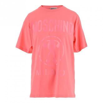 Moschino T-shirt Koszulki i topy Różowy Dorośli Kobiety Rozmiar: M