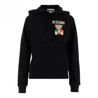 Moschino Hoodie Swetry i bluzy Czarny Dorośli Kobiety Rozmiar: 42 IT