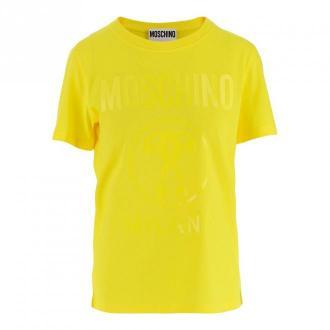 Moschino T-shirt Koszulki i topy Żółty Dorośli Kobiety Rozmiar: 42 IT