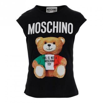 Moschino T-shirt Koszulki i topy Czarny Dorośli Kobiety Rozmiar: 42 IT