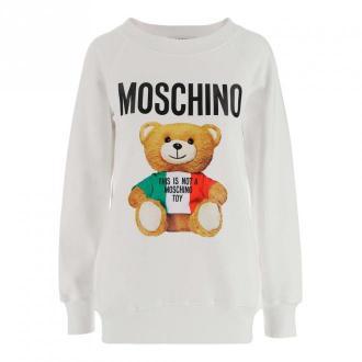 Moschino Sweatshirt Swetry i bluzy Biały Dorośli Kobiety Rozmiar: 40