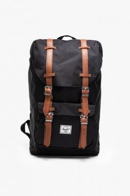Plecak Herschel Little America Mid-Volume - Black/Tan Synthetic Leather 10020-00001 Black/Tan Synthetic Leather