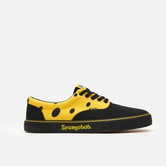 Cropp - Trampki z nadrukiem SpongeBob - Żółty