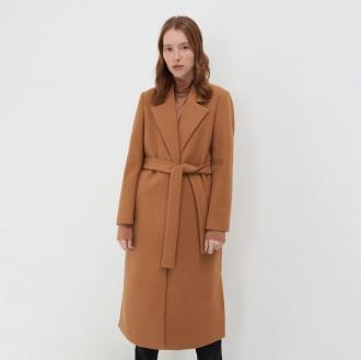 Sinsay - Długi płaszcz - Beżowy