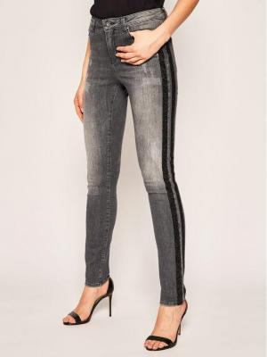 KARL LAGERFELD Jeansy Skinny Fit Sparkle 96KW1102 Szary