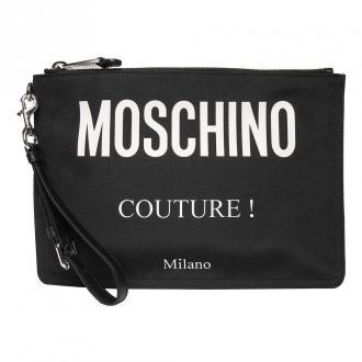 Moschino sprzęgłowa torba z logo Akcesoria Czarny Dorośli Kobiety