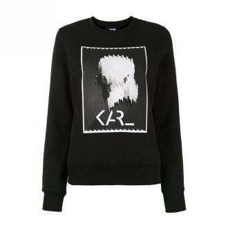 Karl Lagerfeld Sweatshirt Swetry i bluzy Czarny Dorośli Kobiety