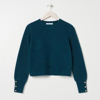 Sinsay - Sweter z ozdobnymi elementami - Zielony