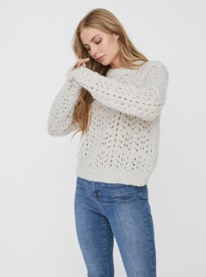 Jasnoszary sweter VERO MODA - S