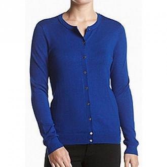 Calvin Klein Sweater Cardigan Swetry i bluzy Niebieski Dorośli Kobiety