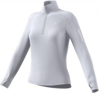 adidas Warm Bluza z zamkiem błyskawicznym 1/2 Kobiety, dash grey XL 2020 Zimowe koszulki do biegania
