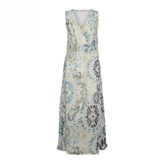 Cream Gemma Długa Sukienka Sukienki Niebieski Dorośli Kobiety Rozmiar: