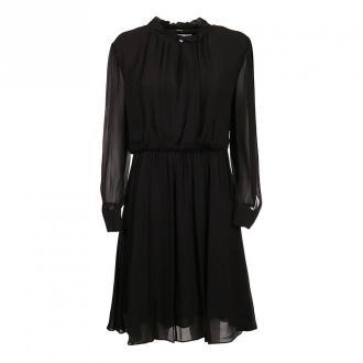 Calvin Klein Georgette niepokoju Dress Sukienki Czarny Dorośli Kobiety