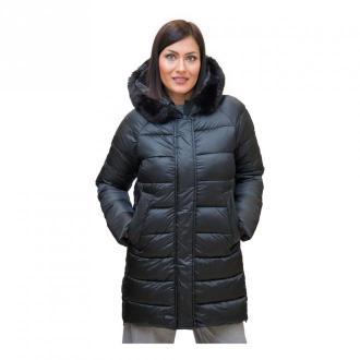 Marella Lurex Padded Jacket Płaszcze Czarny Dorośli Kobiety Rozmiar: