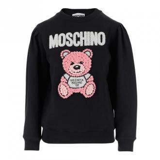 Moschino Sweatshirt Swetry i bluzy Czarny Dorośli Kobiety Rozmiar: 38