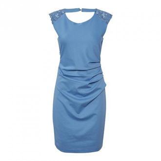 Kaffe Indie Sukienka Sukienki Niebieski Dorośli Kobiety Rozmiar: L