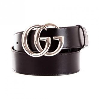 Gucci 400593/0Ya0P Belt Akcesoria Czarny Dorośli Kobiety Rozmiar: 85