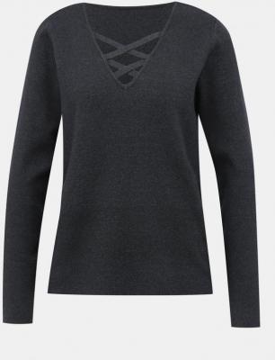 Ciemnoszary sweter VILA Lacal - M