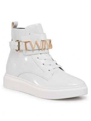 TwinSet Sneakersy Sneaker 202TCP030 Biały
