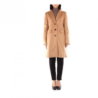 Marella Canarie Long coat Płaszcze Beżowy Dorośli Kobiety Rozmiar: 48