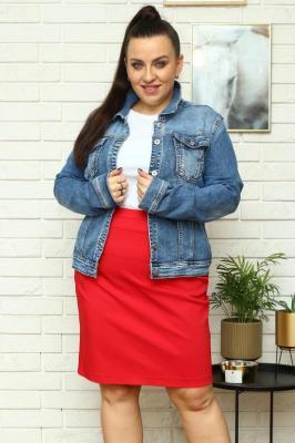 Kurtka jeans klasyczna przecierana niebieska