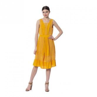 Silvian Heach Dress Sukienki Żółty Dorośli Kobiety Rozmiar: S - 36