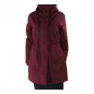The North Face Coat Parka Hooded Płaszcze Czerwony Dorośli Kobiety
