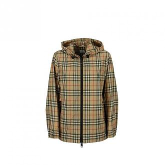 Burberry Vintage Check Recycled Polyester Hooded Jacket Everton Kurtki