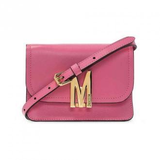 Moschino Leather shoulder strap A7494 8008-0207 Torby Różowy Dorośli