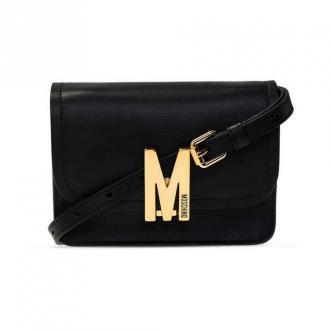 Moschino Leather shoulder strap A7494 8008-0555 Torby Czarny Dorośli