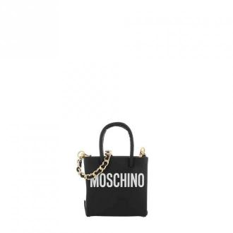 Moschino Mini shoulder bag with print A7726 8001-1555 Torby Czarny