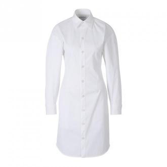 Bottega Veneta Poplin Shirt Dress Sukienki Biały Dorośli Kobiety