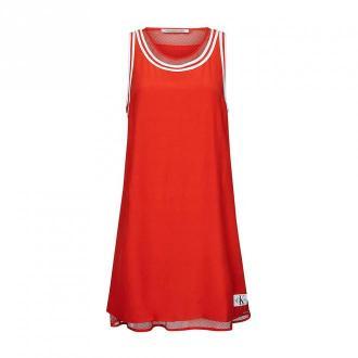 Calvin Klein Dress Sukienki Czerwony Dorośli Kobiety Rozmiar: L