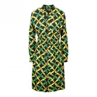 Bottega Veneta Chemisier Dress Sukienki Zielony Dorośli Kobiety