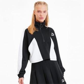 PUMA Damska Skrócona Kurtka Rozpinana Do Połowy Tailored For Sport, Czarny, Odzież