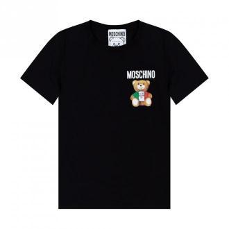 Moschino Markowe T-shirt Koszulki i topy Czarny Dorośli Kobiety