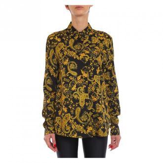 Versace Shirt Bluzki i koszule Czarny Dorośli Kobiety Rozmiar: 48 IT